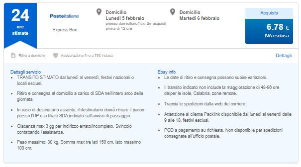 sintomo duramente familiare  POSTE ITALIANE (StardardBox - ExpressBox - Postedeliveryweb ...