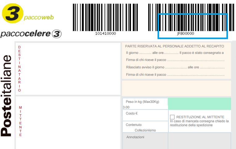 equilibrio Preso in prestito fattibile  🚚 POSTE ITALIANE – Packlink Portale di Aiuto